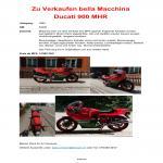 Ducati 900 MHR zu verkaufen