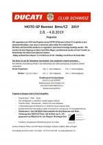 Reise zum Moto-GP Brün 2019